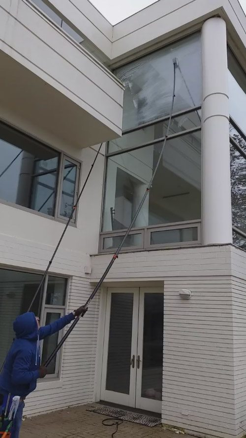 Tall Glass Window Cleaning
