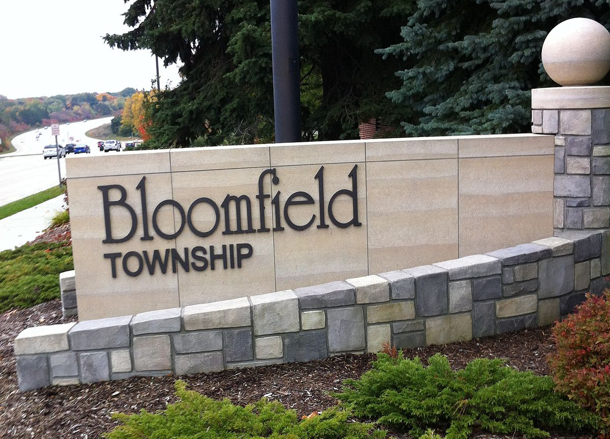 Bloomfield Township Michigan Sign